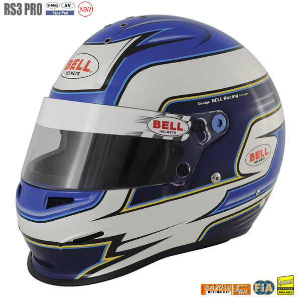 已售罄:BELL RACING安全帽RS3 PRO蓝色SNELL:SA2010