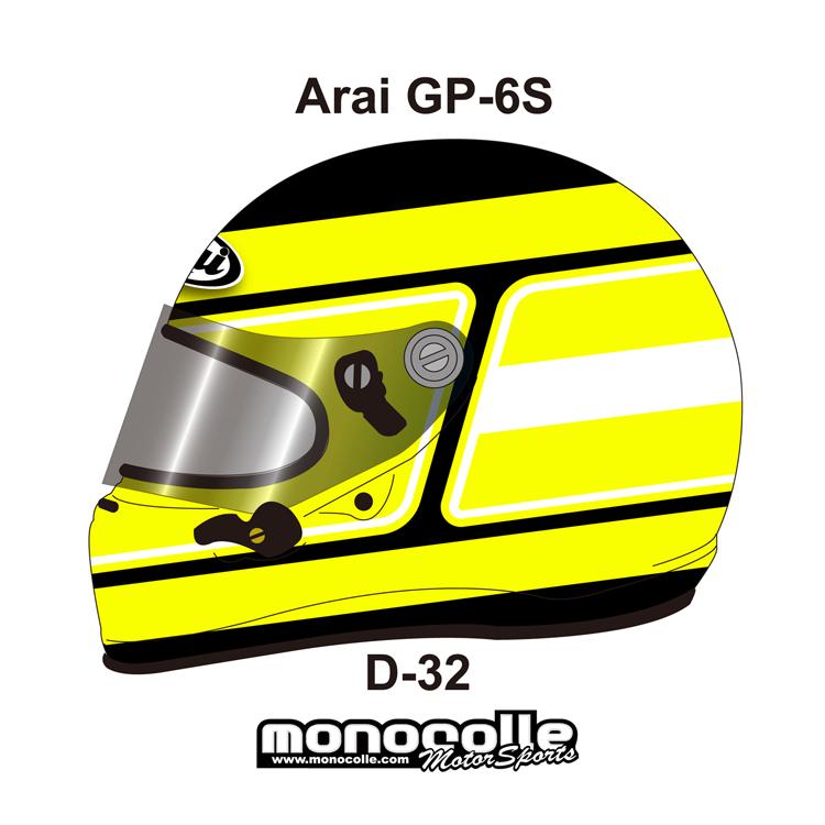 アライ GP-6S イージーデザイン ヘルメットペイントセットオーダー D-32 8859 SNELL SA/FIA8859規格 4輪公式競技対応モデル 受注生産納期2ヶ月~3ヶ月