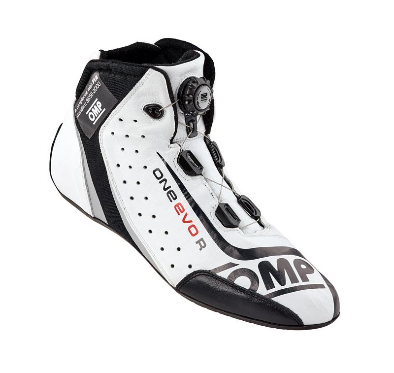 OMP ONE EVO R FORMULA SHOES ホワイト×ブラック レーシングシューズ FIA公認8856-2000 (IC/805020)