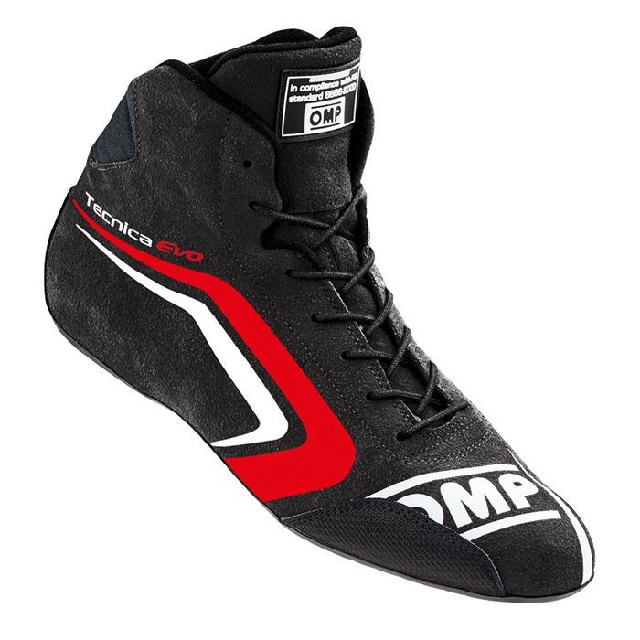 OMP TECNICA EVO SHOES ブラック×レッド レーシングシューズ FIA8856-2000公認 (IC/803E073)