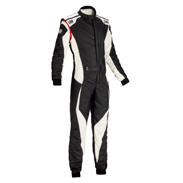 OMP TECNICA EVO SUIT ブラック×ホワイト レーシングスーツ FIA8856-2000公認 (IA01859076)