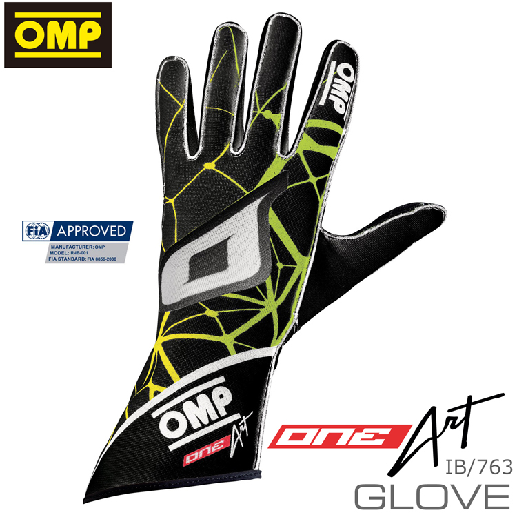 OMP ONE-ART GLOVE FIA8856-2000公認 グローブ オリジナルデザイン製作 / デザイン・データー作成費別 (IB763) ※受注生産に付き納期2~3ヶ月