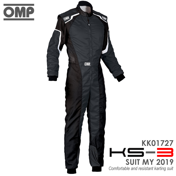 OMP KS-3 SUIT ブラック レーシングスーツ CIK-FIA LEVEL-2公認 レーシングカート・走行会用 (KK01727071)