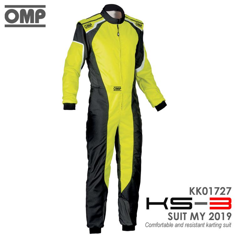 2019NEWモデルOMPKS-3SUITイエロー(フルーオ)×ブラックレーシングカート・走行会用スーツCIK-FIALEVEL-2公認(KK01727178)