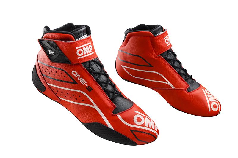 2020モデル OMP ONE-S SHOES レッド×ホワイト (061) レーシングシューズ FIA公認8856-2018規格