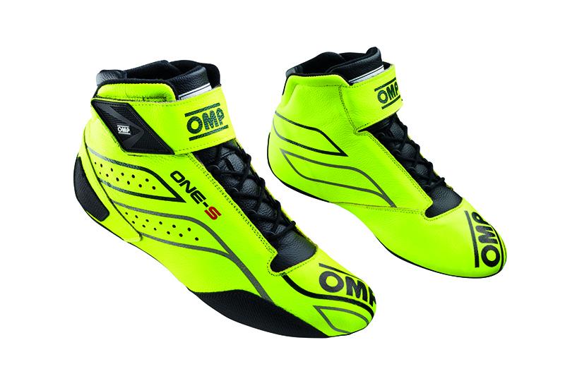 2020モデル OMP ONE-S SHOES 蛍光イエロー (099) レーシングシューズ FIA公認8856-2018規格