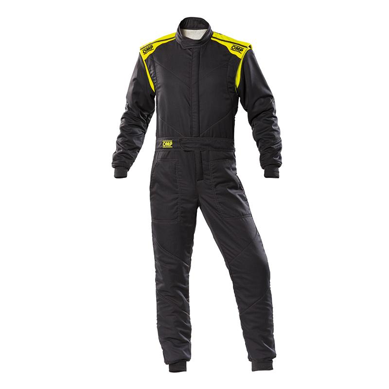 2020モデル OMP FIRST-S SUIT アンスラサイト蛍光イエロー レーシングスーツ FIA8856-2018公認 Anthracite/fluo yellow (184)