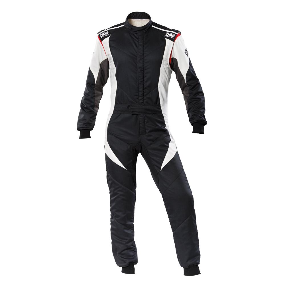 2020モデル OMP FIRST-EVO SUIT ブラック/ホワイト(黒) レーシングスーツ FIA8856-2018公認 Black/white (076),