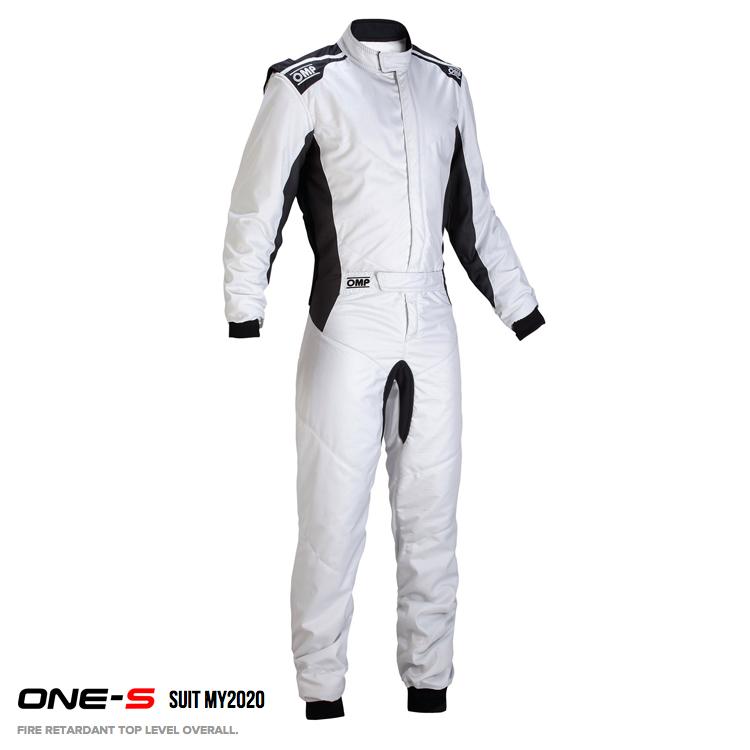 2020年モデル OMP ONE-S SUIT シルバー(グレー) レーシングスーツ FIA8856-2000公認 Silver (083)