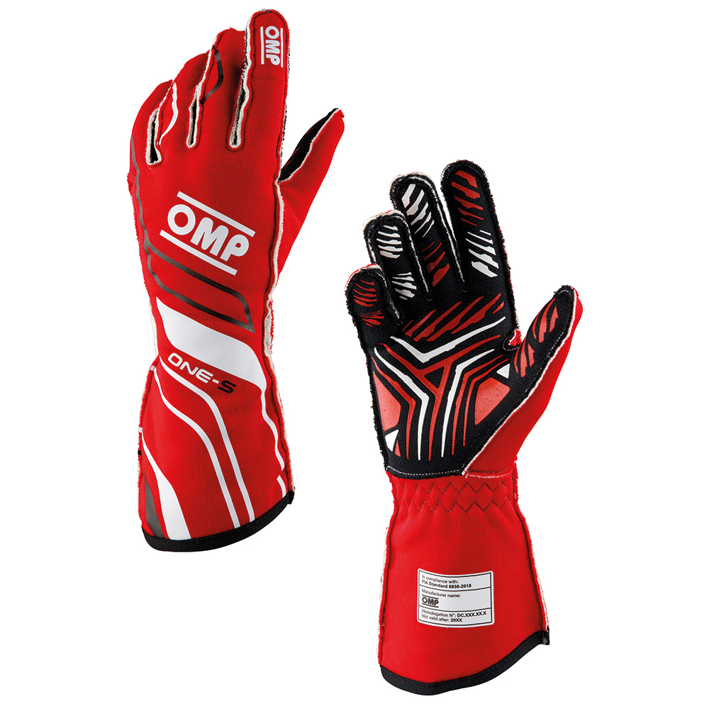2020年モデル OMP ONE-S GLOVE RED(赤) レーシンググローブ FIA公認8856-2018 レッド (R)