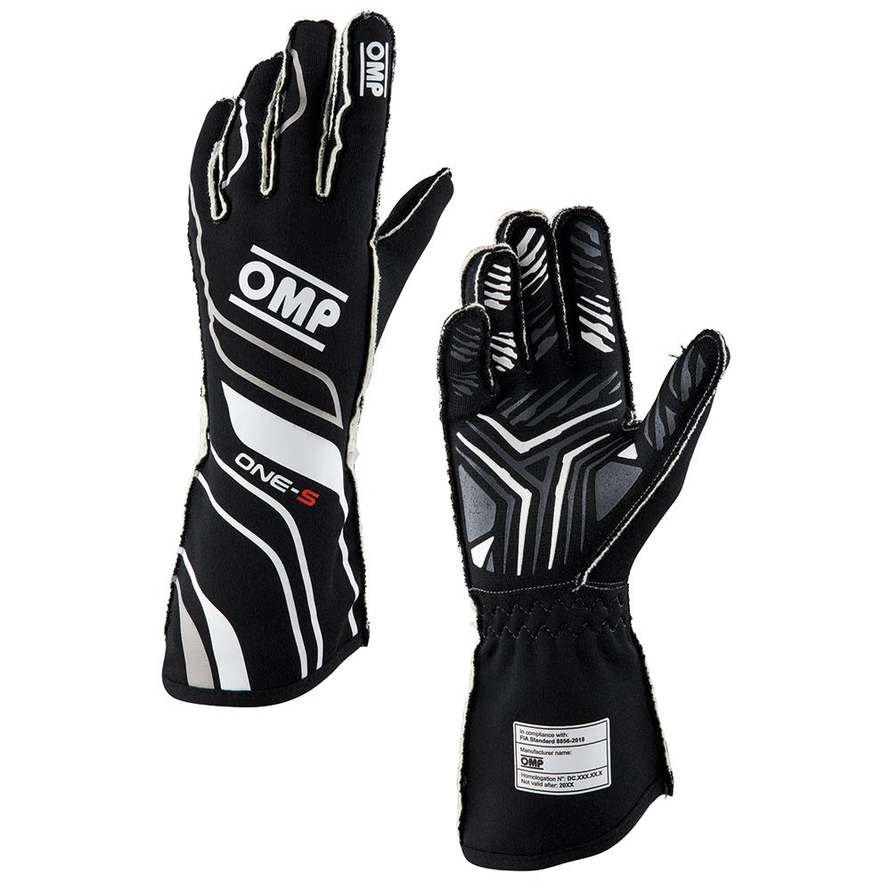 2020年モデル OMP ONE-S GLOVE BLACK(黒) レーシンググローブ FIA公認8856-2018 ブラック (N)