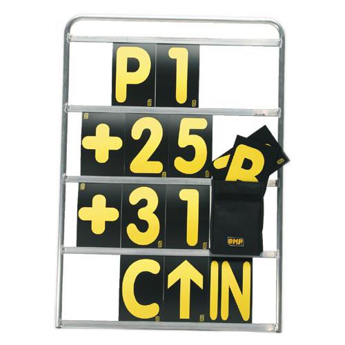 OMP サインボード4段 フレーム 通常より多い 42枚ナンバーセット KC1068+KC1069 ※大型梱包につき別途送料が発生致します