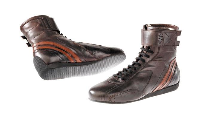 OMP VINTAGE BOOTS CARRERA DARK BROWN レーシングシューズ FIA公認8856-2000 本国取り寄せ品