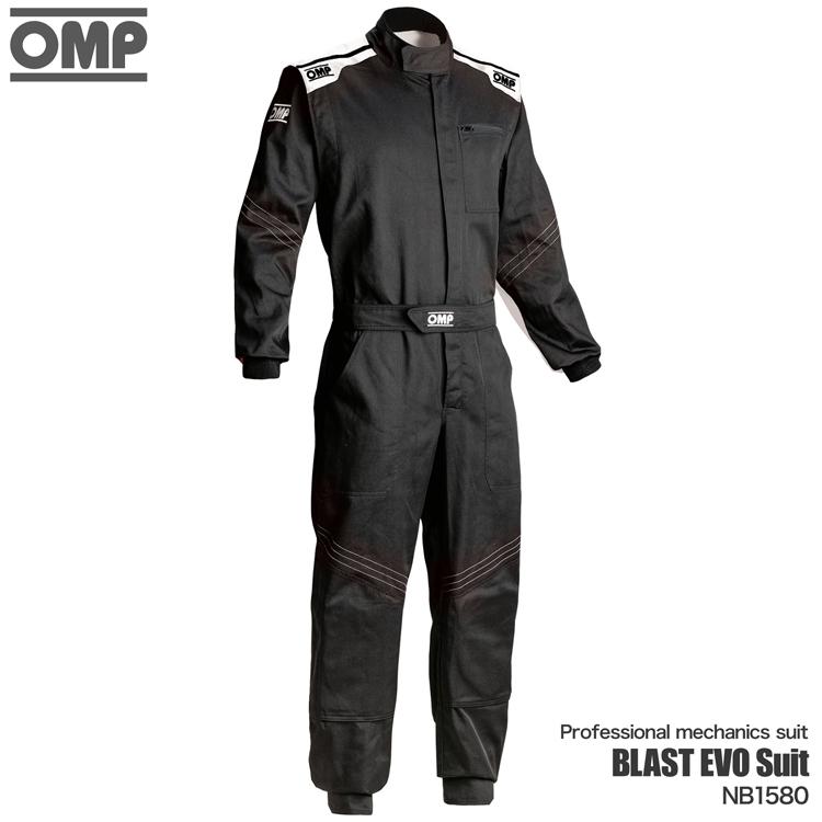 OMP BLAST EVO MECHANICS SUIT ブラック×グレー メカニックスーツ (NB1580071)