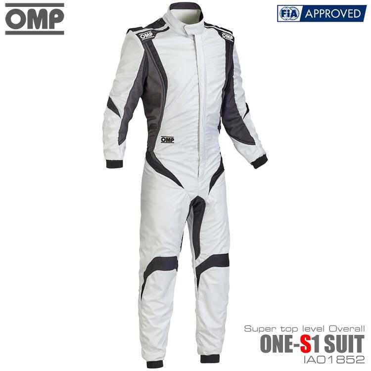 OMP ONE S1(エスワン) SUIT シルバー×ブラック×アンスラサイト レーシングスーツ FIA8856-2000公認 (IA01852083)