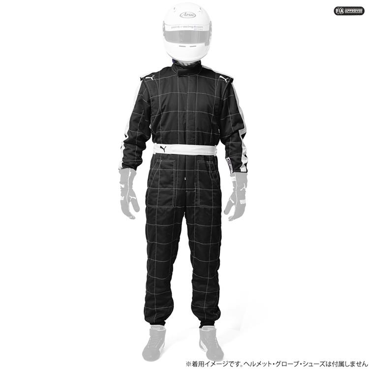 PUMA T7-RACE ティセット レーシングスーツ ブラック(01) FIA8856-2000公認 (927939-01)