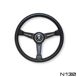NARDI ナルディ ステアリング CLASSIC クラッシック ブラックレザー&ブラックスポーク 360mm (N130)