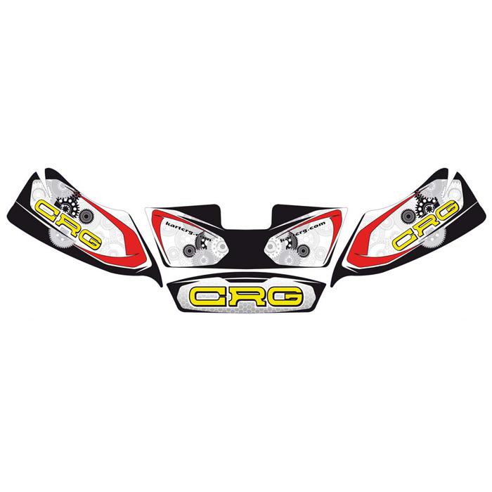CRG フロントスポイラー用 ステッカー KIT レーシングカートパーツ