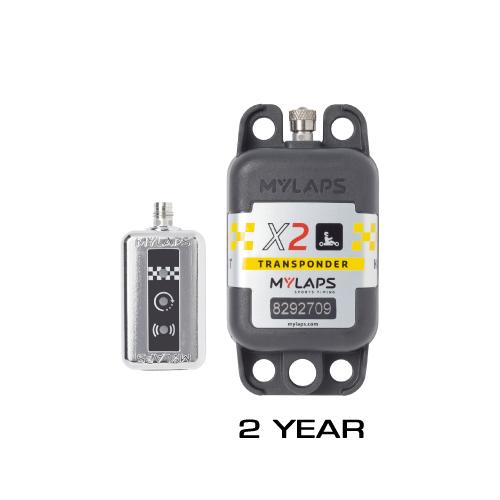<2YEAR>MYLAPS X2 RACER パーソナルトランスポンダー レーシングカート専用 パッケージ 本体 + 2年ライセンス付き FOR RACING KART