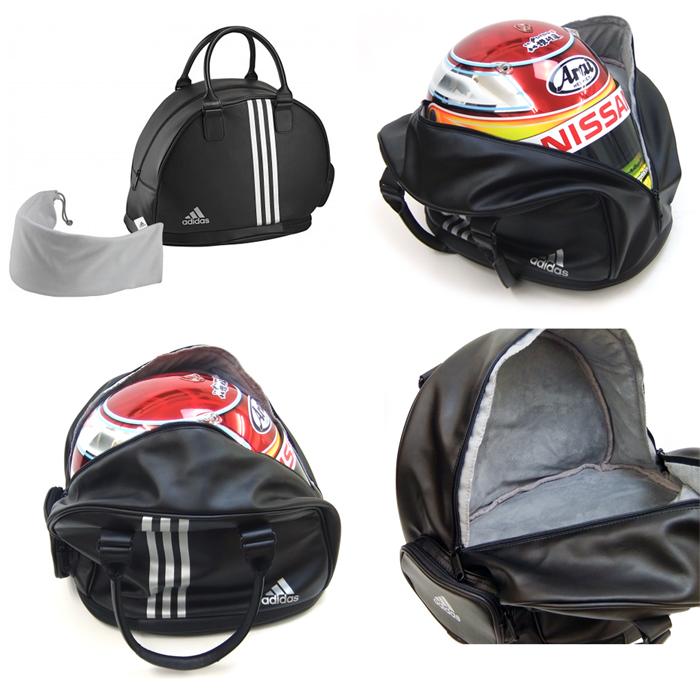 32d1a0f473 monocolle  adidas (Adidas) motor sports helmet back HELMET BAG ...
