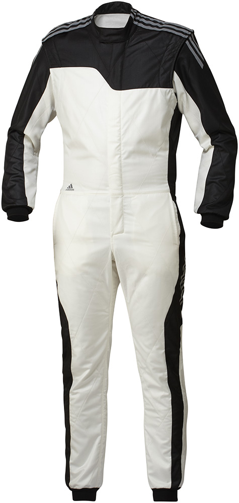 adidas(アディダス)レーシングスーツ RSR CLIMACOOL NOMEX SUIT WHITE/BLACK FIA8856-2000公認 本国取り寄せ商品