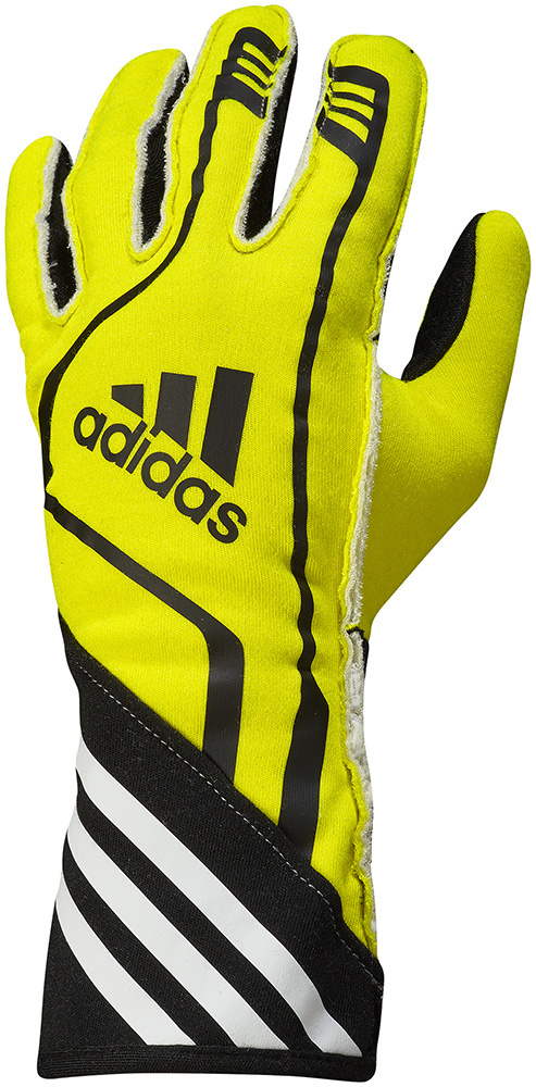 adidas(アディダス)レーシンググローブ RSR GLOVES FLUO YELLOW/BLACK FIA8856-2000公認