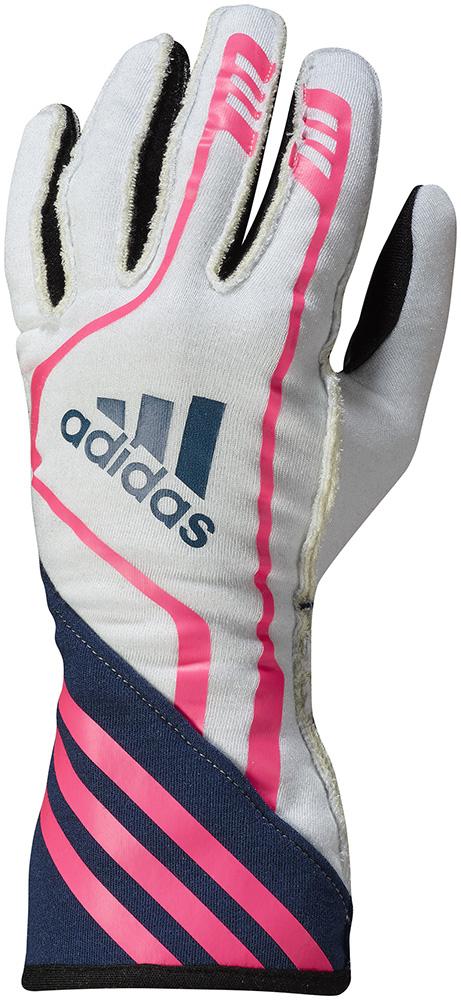 adidas(アディダス)レーシンググローブ RSR GLOVES WHITE/NAVY/FLUO PINK FIA8856-2000公認