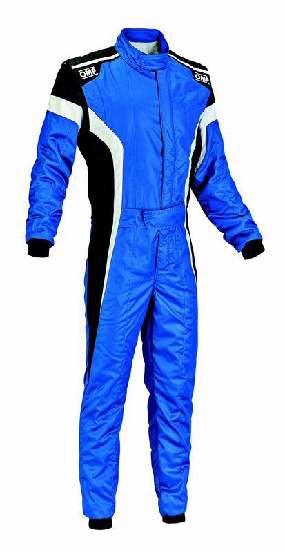 OMP TECNICA S SUIT ブルー×ホワイト×ブラック レーシングスーツ FIA8856-2000公認 (IA01850043)