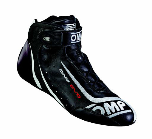 OMP ONE EVO SHOES ブラック×ホワイト レーシングシューズ FIA公認8856-2000 (IC/806071)