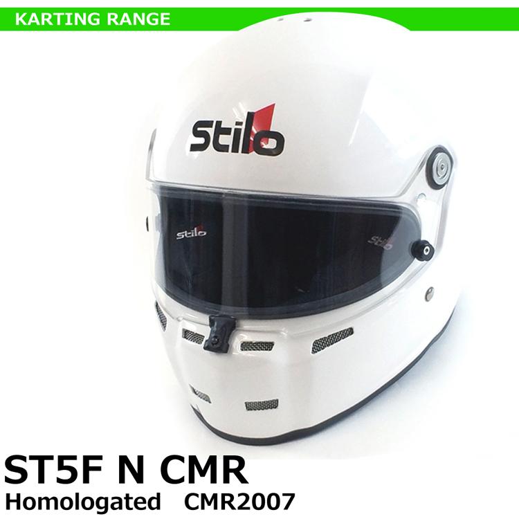 STILO ヘルメット ST5F N CMR グロスホワイト SNELL CMR2007 レーシングカート用 AA0717AH2P