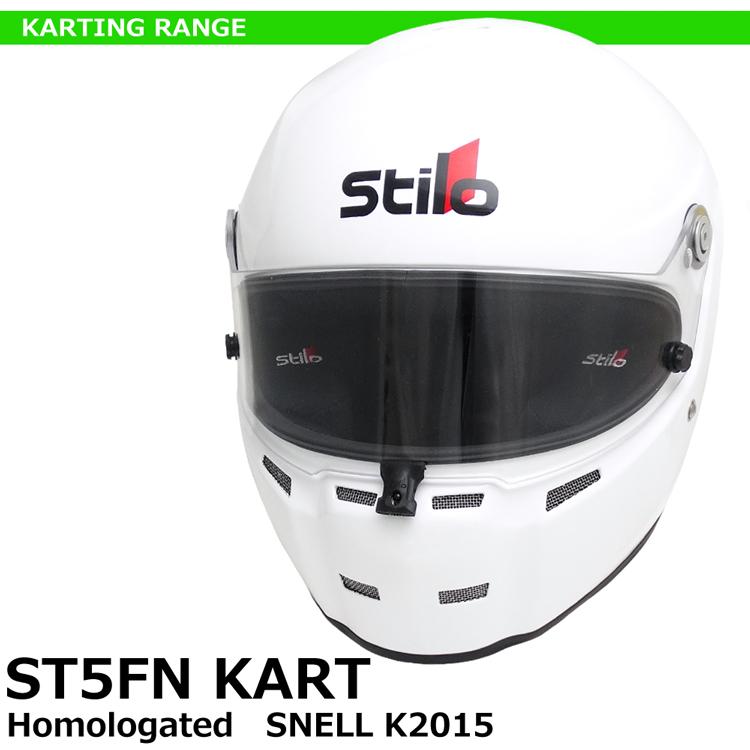 STILO ヘルメット ST5FN KART ホワイト SNELL K2015 レーシングカート用 AA0714AH2Q