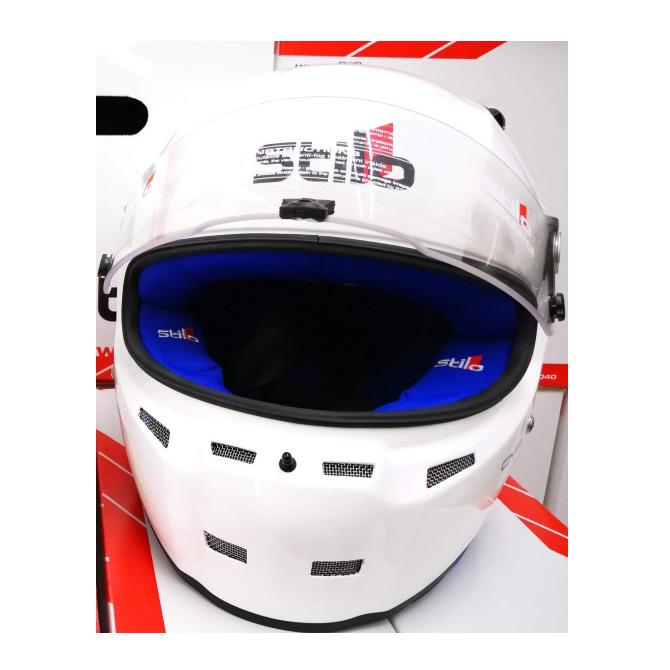 STILO ヘルメット ST5F N CMR グロスホワイト内装色ブルー SNELL CMR2007 レーシングカート用 (AA0713AH4PXX0102) ※本国取り寄せ品納期2ヶ月前後