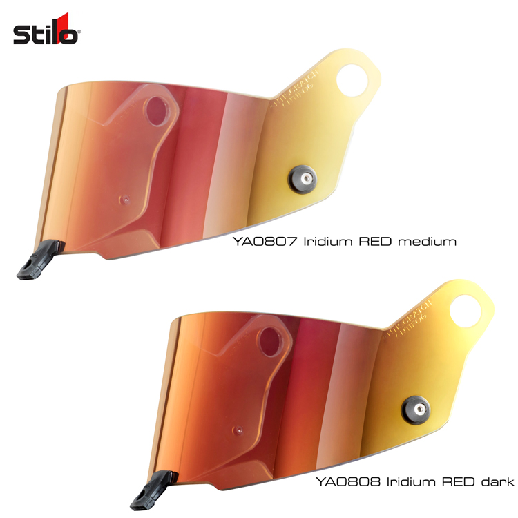 STILO HELMET 純正ミラーシールド レッド アンチフォグ(曇り止め)仕様 ST5モデル専用