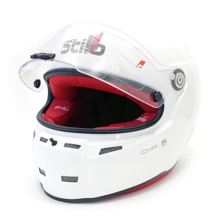 STILO ヘルメット ST5F N CMR グロスホワイト内装色レッド SNELL CMR2007 レーシングカート用 (AA0713AH4PXX0103) ※本国取り寄せ品納期2ヶ月前後