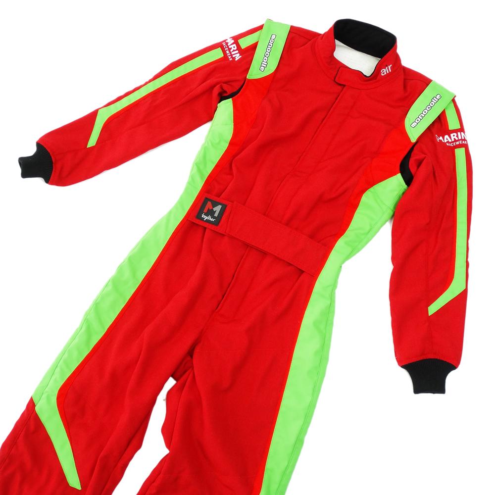monocolle Marina コラボスーツ FIA8856-2000 公認 4輪レーシングスーツ カラー 003 RED GREEN 基本受注生産品(一部即納在庫有り)