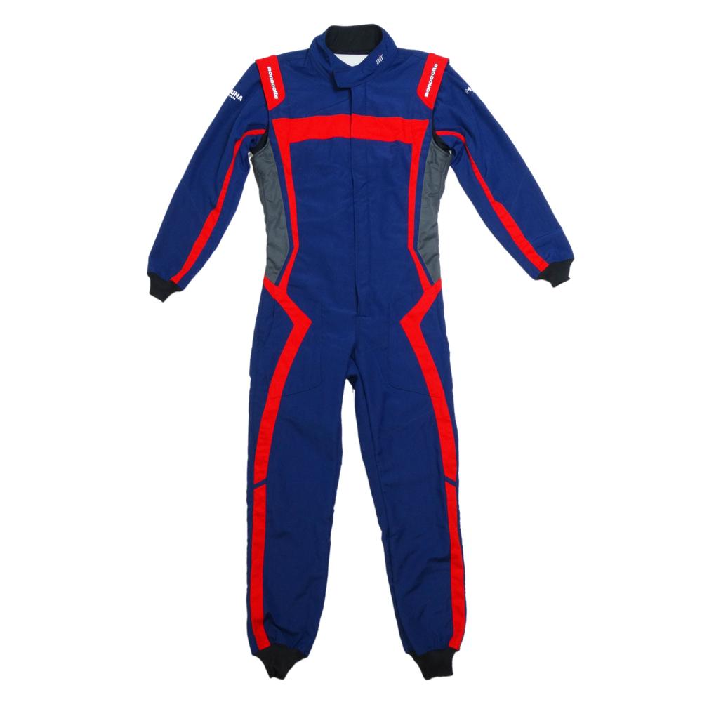 monocolle Marina コラボスーツ FIA8856-2000 公認 4輪レーシングスーツ カラー 006 BLUE/RED monocolle special 基本受注生産品(一部即納在庫有り)