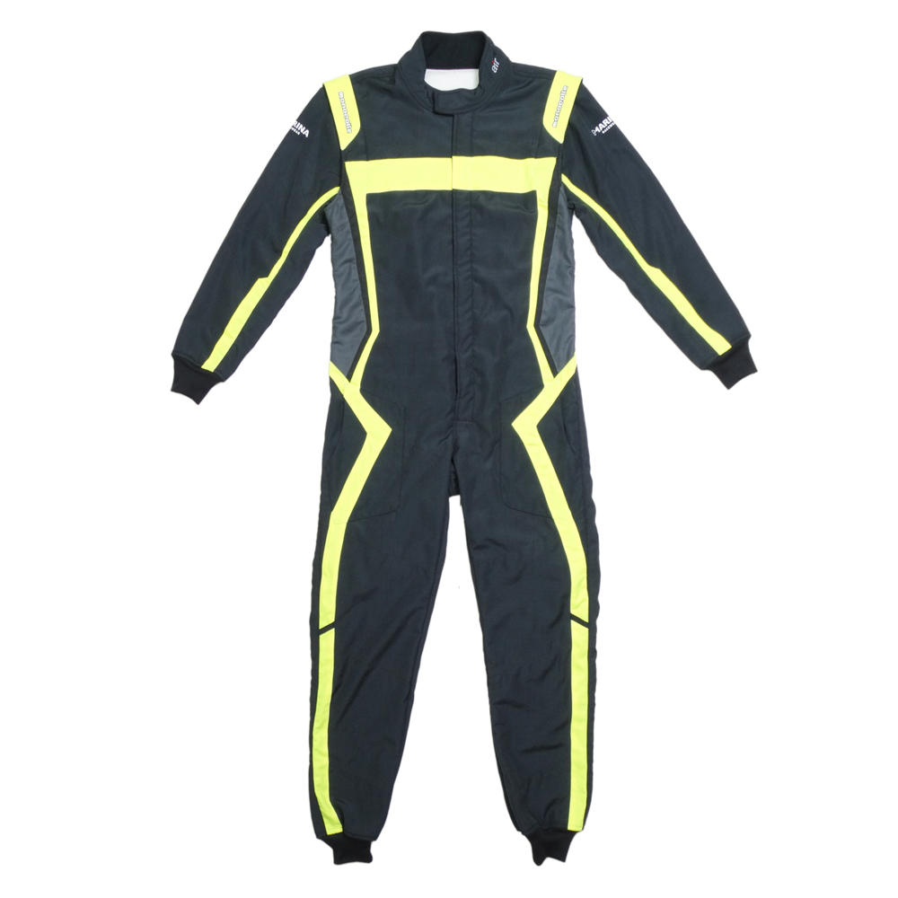 monocolle Marina コラボスーツ FIA8856-2000 公認 4輪レーシングスーツ カラー 006 BLACK YELLOW monocolle special 基本受注生産品(一部即納在庫有り)