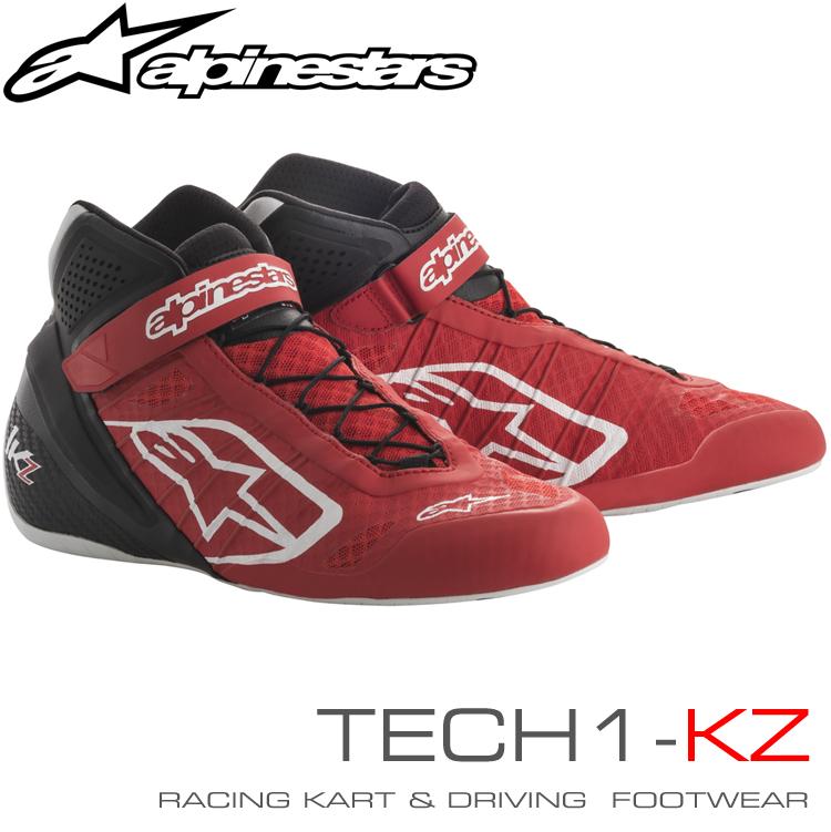 2018-19モデル アルパインスターズ レーシングシューズ TECH1-KZ レッド×ブラック(31) レーシングカート・走行会用 (2713018-31)