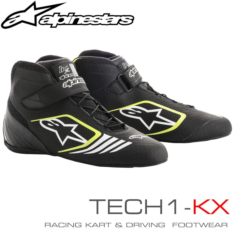 アルパインスターズ レーシングシューズ TECH1-KX ブラック×イエローフルーオ(155) レーシングカート・走行会用 (2712118-155)