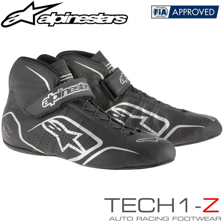 2015-19モデル アルパインスターズ レーシングシューズ TECH1-Z ブラック×アンスラサイト (104) FIA8856-2000公認モデル (2715015-104)