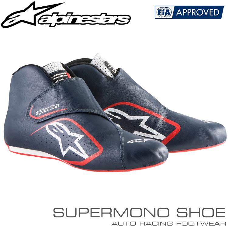 2015-18モデル アルパインスターズ レーシングシューズ SUPERMONO SHOES ネイビー×ホワイト×レッド(718) FIA8856-2000公認モデル
