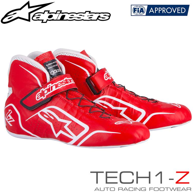2015-18モデル アルパインスターズ レーシングシューズ TECH1-Z レッド×ホワイト (32) FIA8856-2000公認モデル (2715015-32)