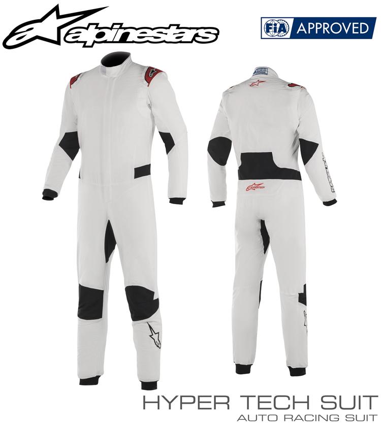 2018-19モデル アルパインスターズ HYPERTECH SUIT ホワイト×レッド (23) レーシングスーツ FIA8856-2000公認モデル (3350219-23)