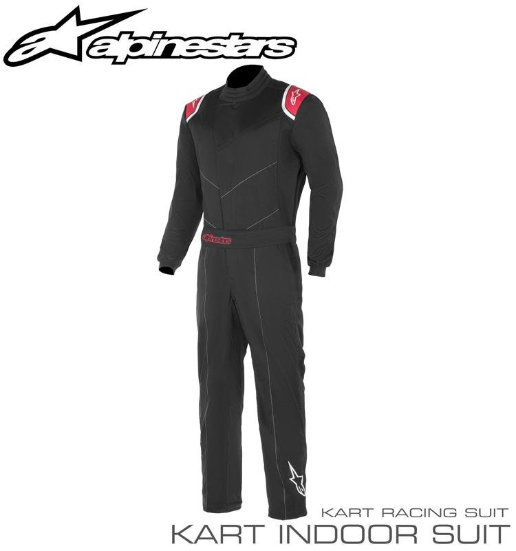 アルパインスターズ KART INDOOR ブラック×レッド(13) レーシングスーツ スポーツカート・走行会用 (3357019-13)