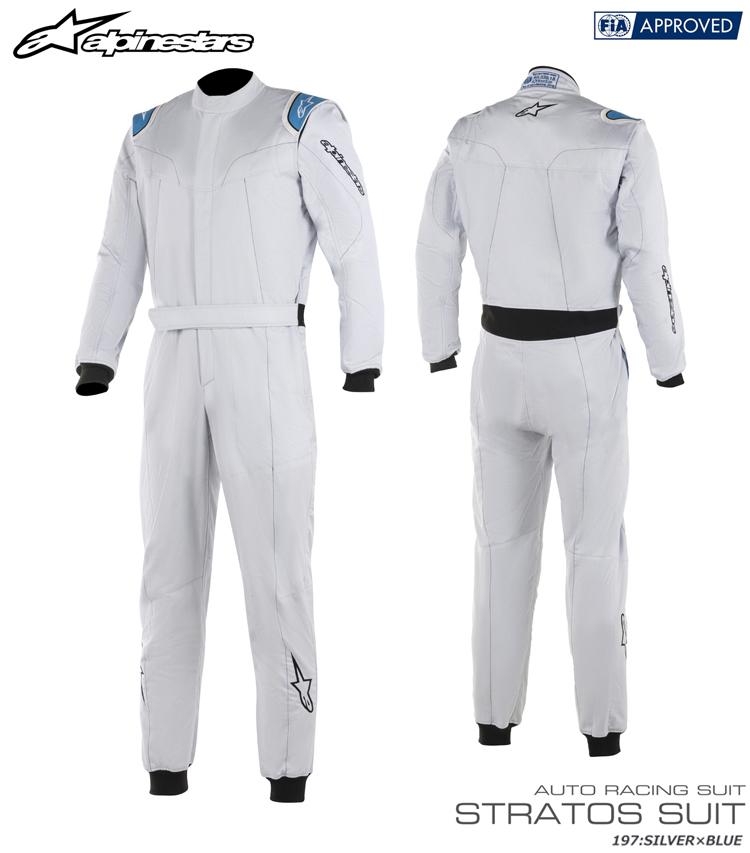 2018-19モデル アルパインスターズ STRATOS SUIT シルバー×ブルー (197) レーシングスーツ FIA8856-2000公認モデル (3354819-197)
