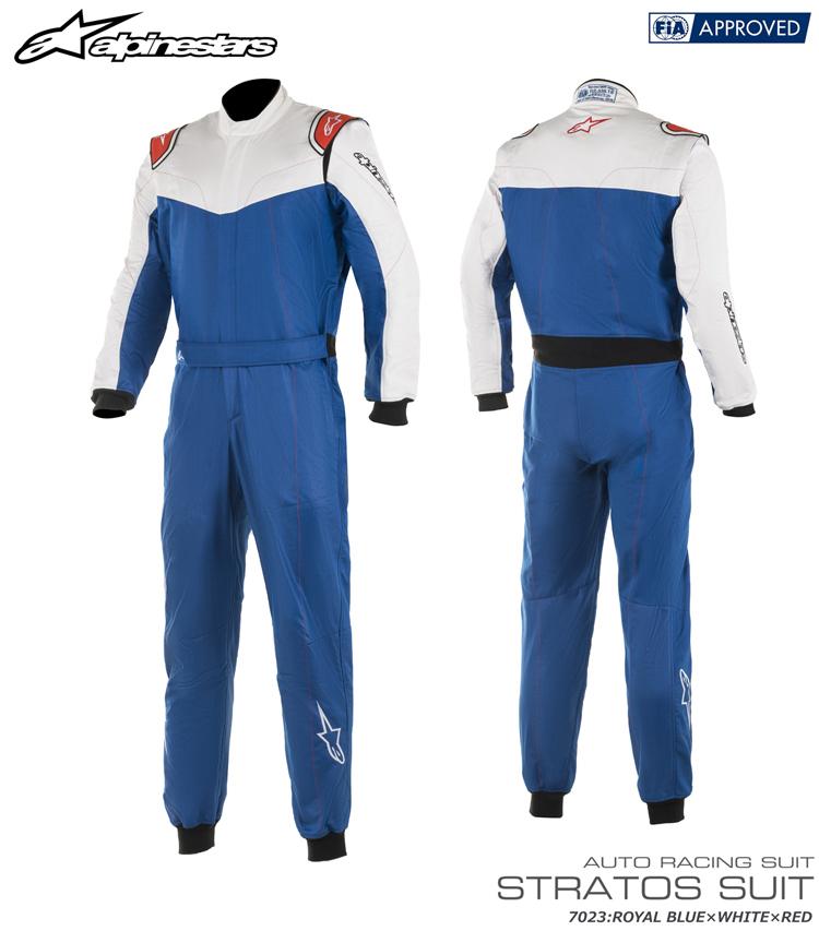 アルパインスターズ STRATOS SUIT ロイヤルブルー×ホワイト×レッド (7023) レーシングスーツ FIA8856-2000公認モデル (3354819-7023)