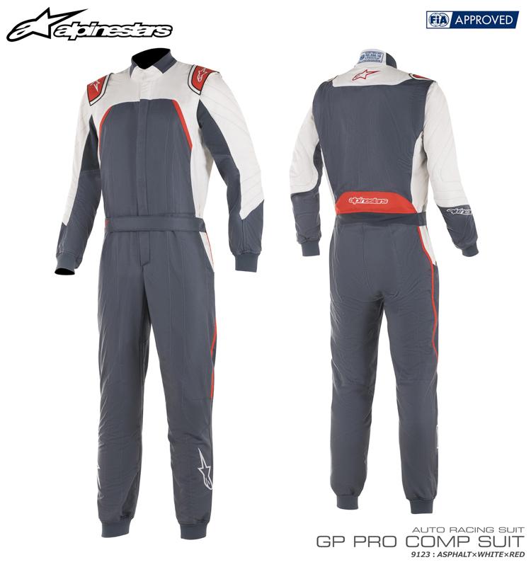アルパインスターズ GP PRO COMP SUIT アスファルト×ホワイト×レッド (9123) レーシングスーツ FIA8856-2000公認モデル (3352019-9123)