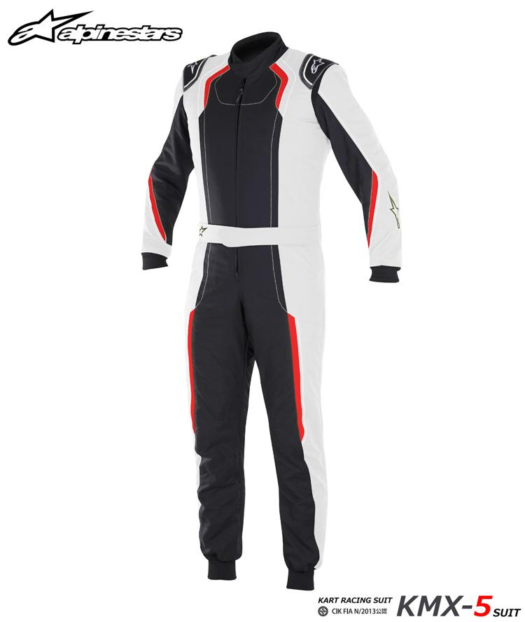 2018-19モデル アルパインスターズ KMX-5 SUIT シルバー×ブラック×レッド (1096) レーシングスーツ レーシングカート・走行会用 CIK FIA N/2013公認 (3353017-1096)