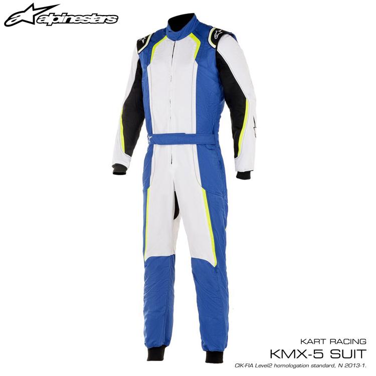 2020年NEWカラー! アルパインスターズ KMX-5 SUIT ロイヤルブルー×ホワイト×イエロー (7255) レーシングスーツ レーシングカート・走行会用 CIK FIA N/2013公認 (3353017-7255)