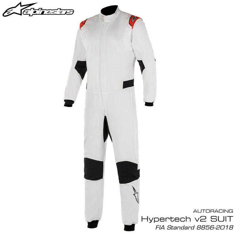 2020NEWモデル アルパインスターズ HYPERTECH v2 SUIT ホワイト×レッド (23) レーシングスーツ FIA8856-2018公認モデル AUTO RACING SUIT (3350220-23)